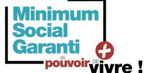"""Logo avec inscrit """"Minimum Social Garanti"""""""